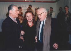 Con Emilio Tadini e Giancarlo Vigorelli