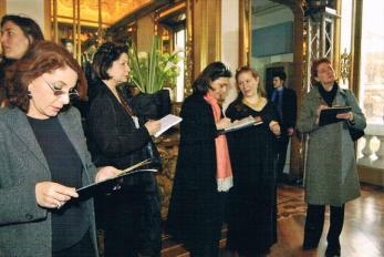 Con Mariella Milani, Paola Pollo, Paola Pisa, Laura Asnaghi e Antonella Amapane