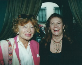 Con Inge Feltrinelli