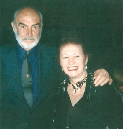 Con l'adorato Sean Connery