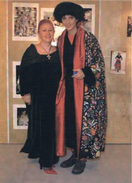 Con Rosalinda Celentano